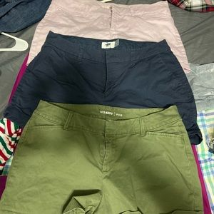 3 pairs of old navy shorts